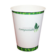 Custom made take away biodegradable PLA coffee disposable paper cups 2018