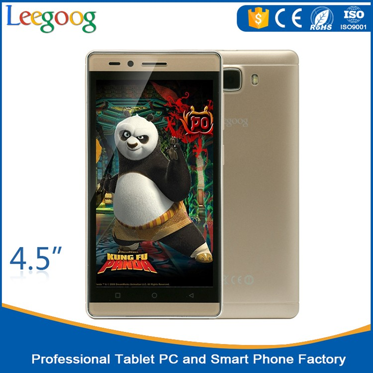 4.5 inch metal case IPS screen MTK6580M PDA 3G mobile phone