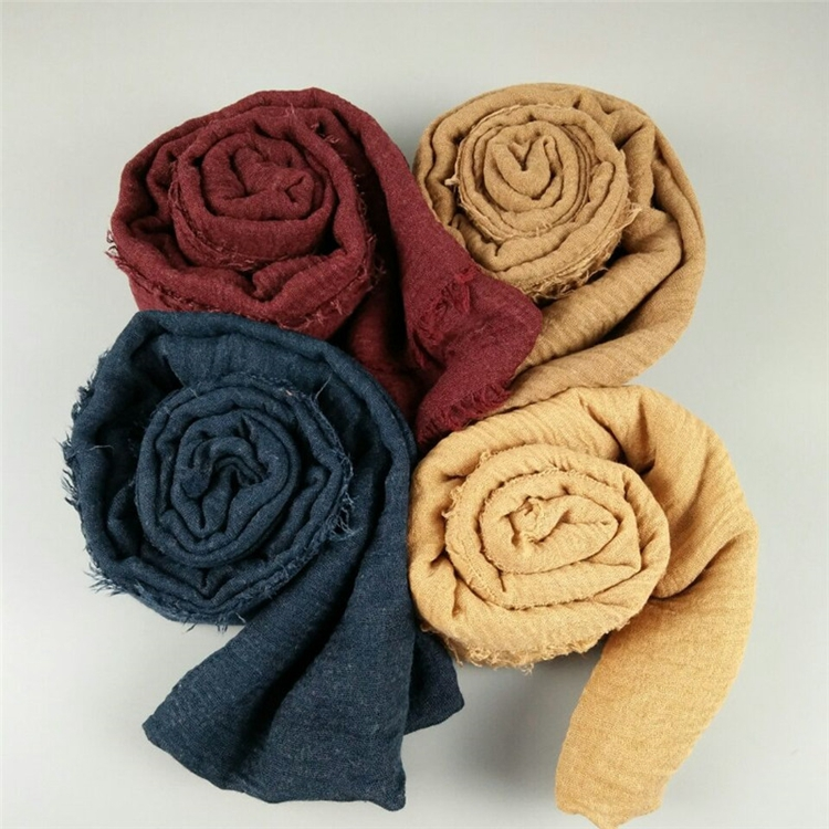 Best Selling Products Solid Color Women 100% Cotton Scarf Hijab