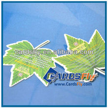 customized knife mould die cutting leaf shape plastic hotel card