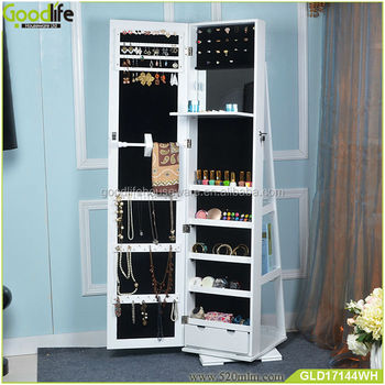 Swivel Jewellery Cabinet Mirror Mail Cabinet