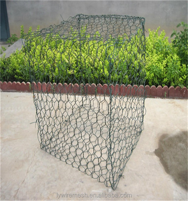 Flood bank or guiding bank gabions box wire mesh from direct factory