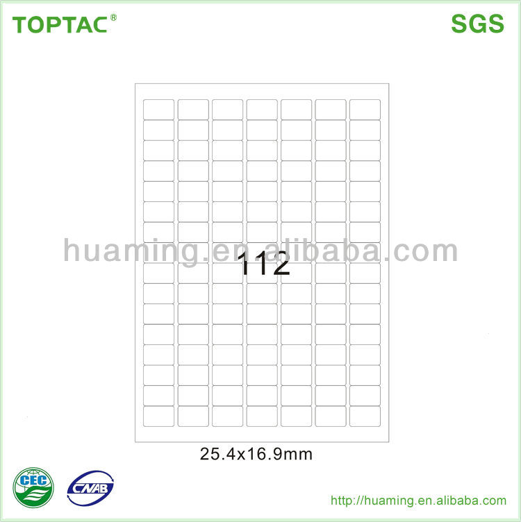 Factory Price A4 Address Labels size