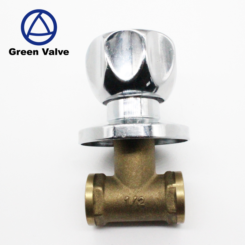 Green-GutenTop Good Quality brass water Manual angle Stop Shut Off Valve for bathroom