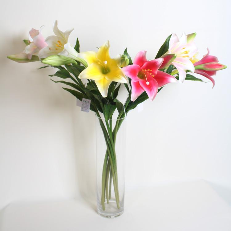 Handmade Big Lily Flower,Artificial Flower Arrangements In Vase ...