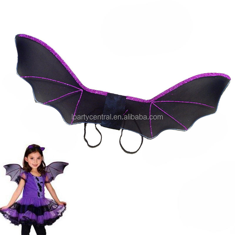 Amazon hot sale products halloween kids clothing accessories folding black bat wings LP