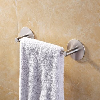 Bathroom Sus 304 Stainless Steel Towel Rack Hanger Shelf 3m Self