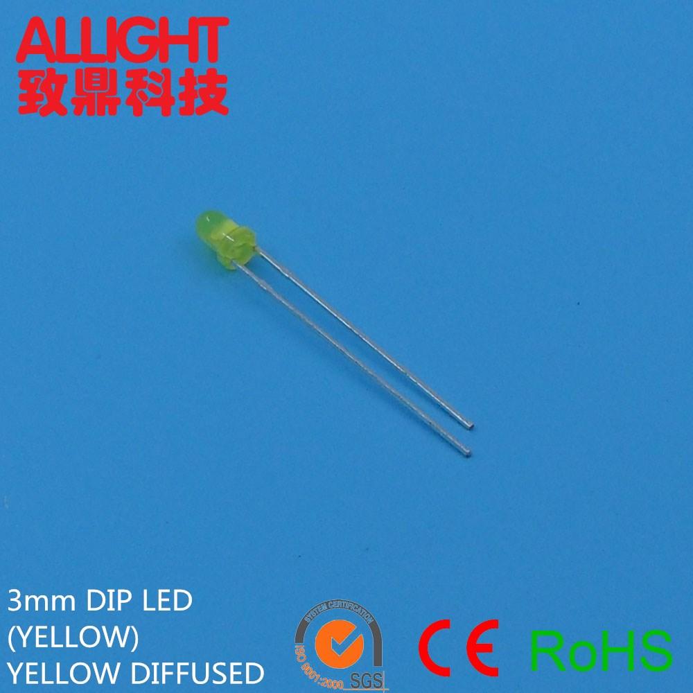 Light emitting diode 3mm diffuser 12 volt leds