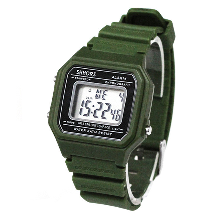 Male clock  New sports digital Silicone PU  Strap Retro Digital Watch Boys Men's Relogio Feminino Masculino