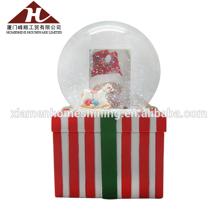christmas snow globe photo frame