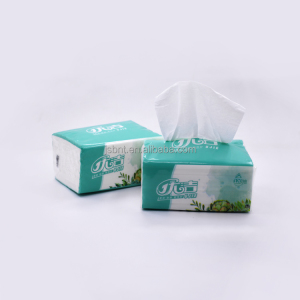 custom logo printed virgin pulp soft pack facial tissue