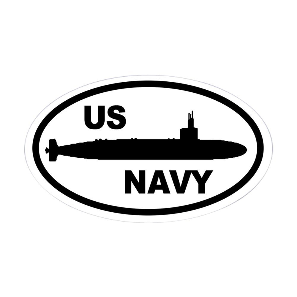 CafePress - NAVY Submarine Oval Sticker - Oval Bumper Sticker, Euro Oval Car Decal