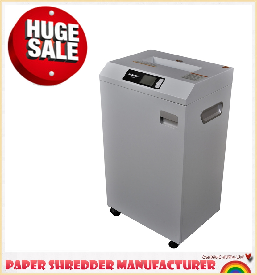 commercial paper shredders for sale This shredder takes 43-46 sheets of paper and cuts them into tiny 3/16 x 2 particles of paper in just seconds this is a huge capacity for any shredder and is excellent for busy offices that need a shredder that can keep up with a department's daily workload.