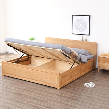 Latest Design High Quality Bedroom Furniture Modern Queen Size Wood Storage Bed