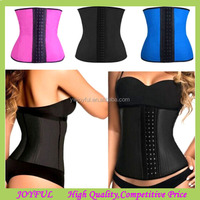 Factory supplier latex waist cincher/steel boned corset/corset waist trainers