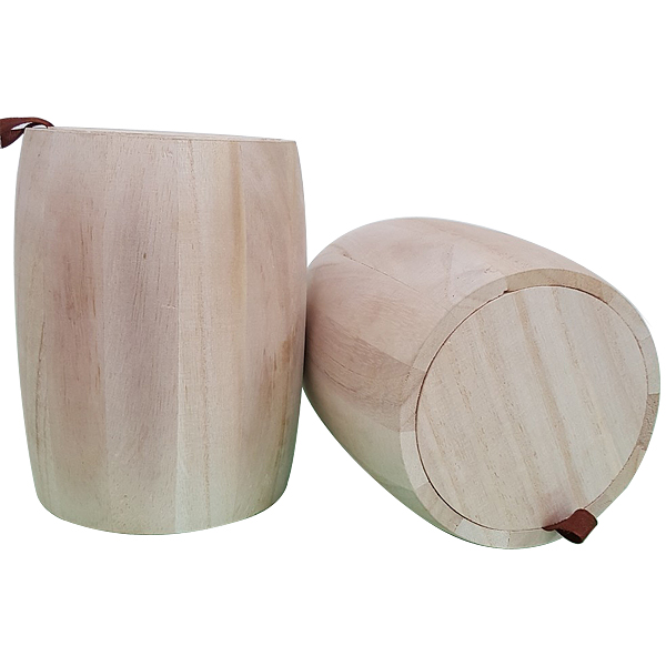 Accept OEM coffee bean wooden barrel storage box 500ml