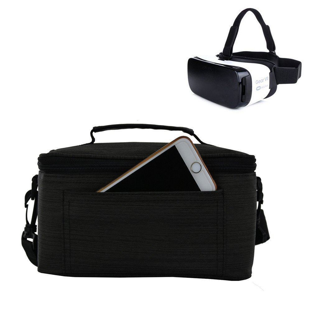 Travel Storage Carrying Case Bag For Samsung Gear VR Glasses Virtual Reality Headset or Other VR 3D Glasses 3D Eyewear Glasses