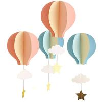 Umiss 8 Pcs Large Size Hot Air Balloon 3D Paper Garland Hanging Decorations for Room, Wedding, Baby Shower, Birthday Party
