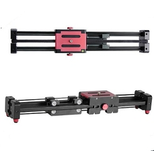 LAING Extendable Double Distance Track Dolly Rail Video Slider for DSLR Camera