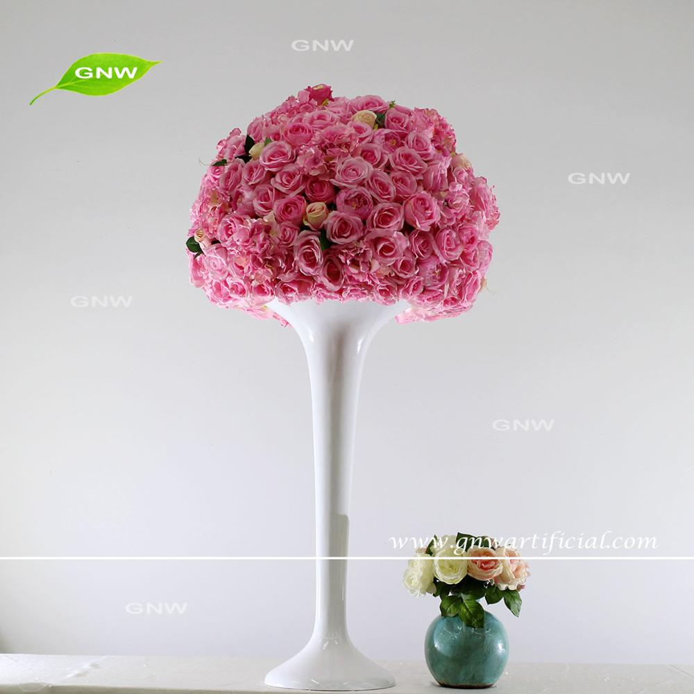 Gnw Pink Floral Canopy Tall Vase Table Decoration Wedding Flower ...