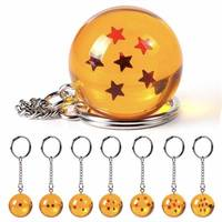 YWLL Collections 7 Stars Crystal Z Balls Keychain Pendant 1 2 3 4 5 6 7 star Complete set Dragon Ball Keychain