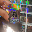 Adhesive Sticker Security Scratch Off Label Custom Euro Laser Security Holographic Sticker Scratch Off QR Code Serial Number 3d Hologram Label Sticker