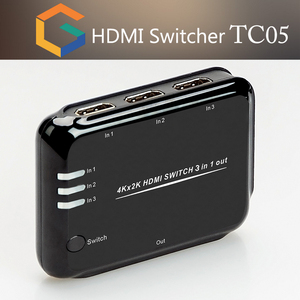 Manufacturer HDMI 4K Switch With IR Extender HDMI splitter 3 port in 1 port  output