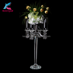 K-1099 table flower wedding crystal candelabra centerpiece