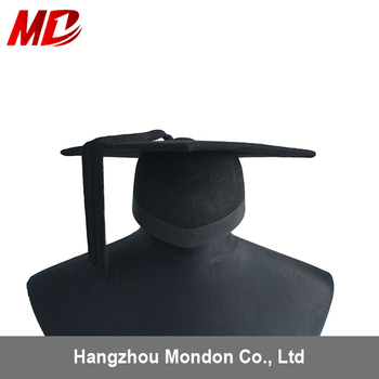 Graduation cap Felt Mortarboard-Unfoldable wool felt or cotton felt