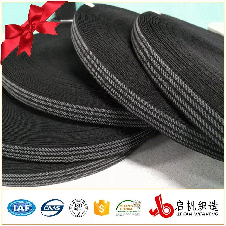 1 Inch Decorative Color Woven Elastic Band For Garment And Waistband