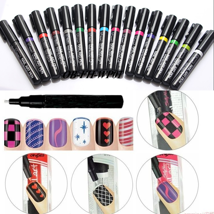 2017 Nail Art Polish Painting Easy To Use 16 Matte Colors Drawing ...