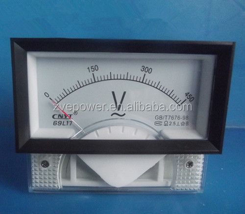 High quality AC 0-450V Analog Volt Voltage current Voltmeter Meter Panel 69L17