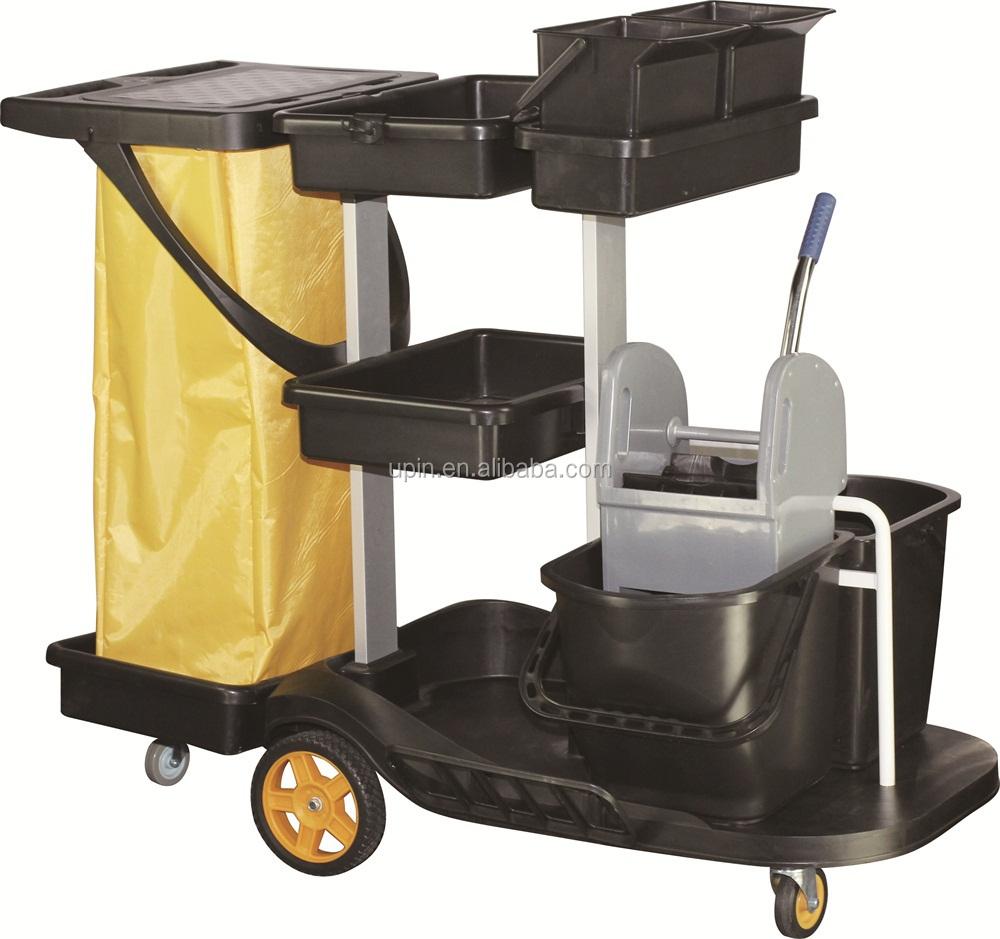 H tel m nage m nage chariots linge de service chariot panier chariot de nettoyeur id de produit for Chariot de menage