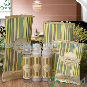 Disposable travel cosmetic kit /natural shampoo and conditioners
