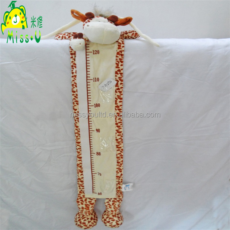 Direct Manufacturer High Quality Baby Growth Giraffe Plush Height Charts