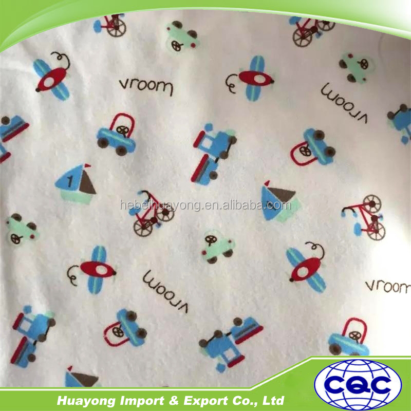 supply plain type woven flannel fabric with many kinds of pattern
