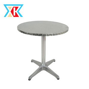 DIA70CM Round Stainless Steel Top Bistro Table with Aluminum Base