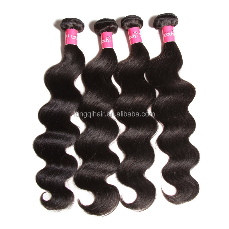 Wholesale Alibaba Longqi Brand Mongolian Body Wave Hair&Kiss Beauty&7A Unprocessed Virgin Mongolian Hair Body Wave
