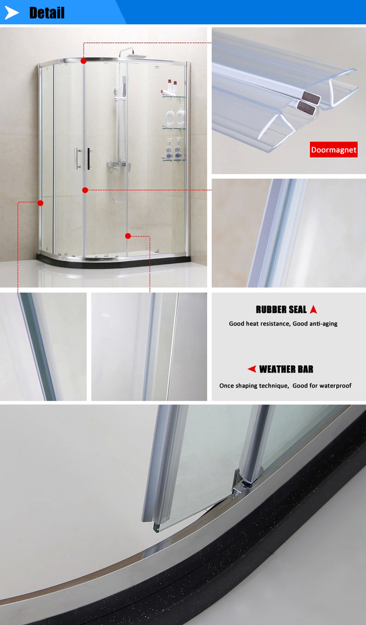 China Shower Enclosure Supplier Free Standing Glass Shower With Ce ...