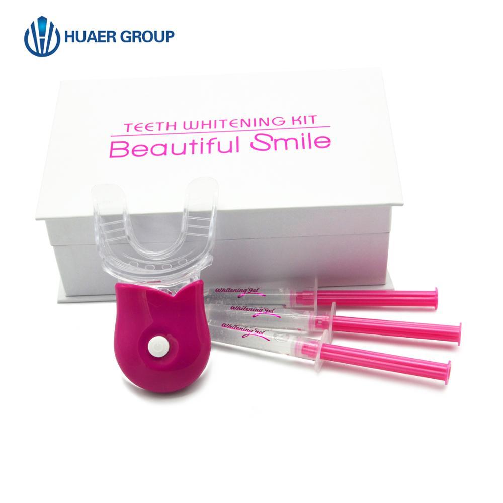 Pink Style Brand New Bleaching Syringe Teeth Whitening Kit Private Logo OEM