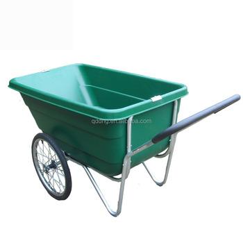 Plastic Garden Cart With Two Wheels TC3089 Two Wheel Garden Cart