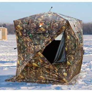 Camouflage Pop-up Ice Shelter 2-person Zippered Door Durable Oxford  Waterproof Portable Ice Fishing Tent - Buy Pop-up Ice Shelter  2-person,Durable
