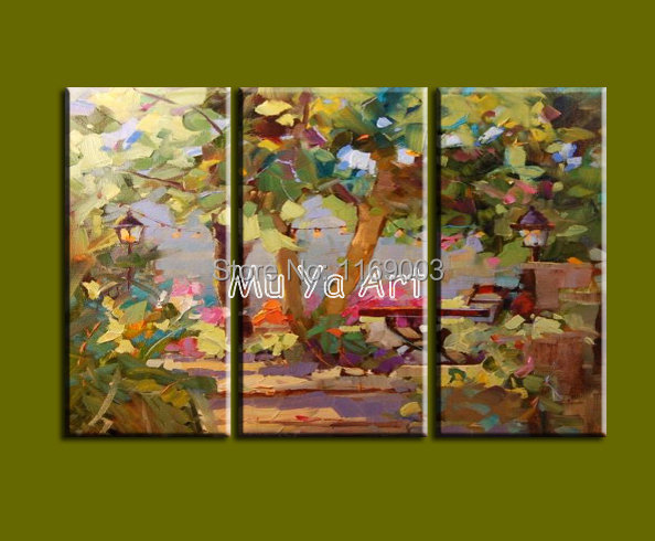 3pieces Modern Abstract Huge Wall Art Oil Painting On: Abstract Modern 3 Piece Canvas Wall Art Hand Painted