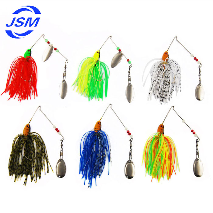 Wholesale 6pcs Fishing Lure Set Hard Spinner Lures Spinnerbait ...