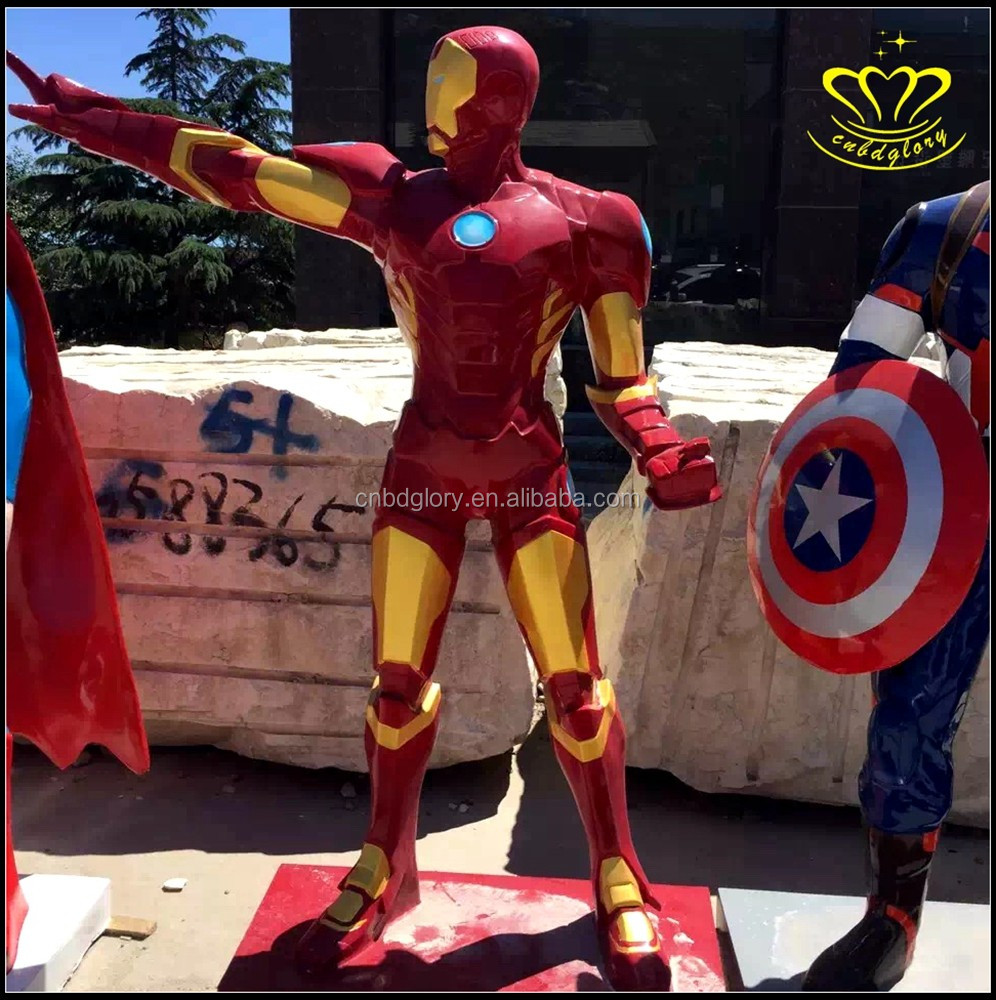 Custom made resin FRP iron spider man sculpture movie game hero alliance figure sculpture