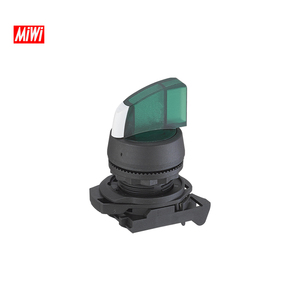 MiWi-800-FJ-XDB Plastic select Push button switch with light green button