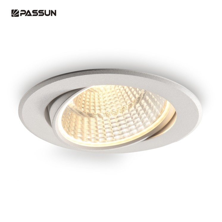 12w embed round flexible COB led <strong>spotlight</strong> &amp;recessed ceiling led spot light