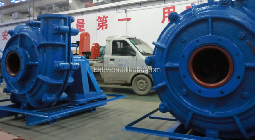 Hard metal and elastomer liner centrifugal slurry pumps