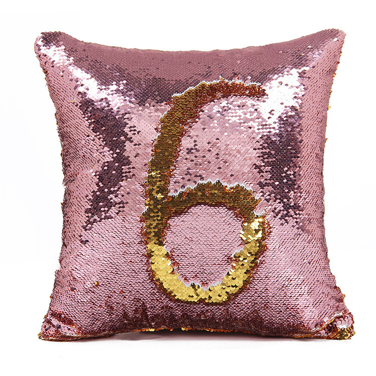 Customize fashion sequin decorative mermaid reversible sequin pillow case
