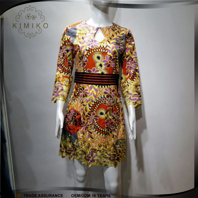 Elegant African Traditional Print Drees,Boho Chic Style African Short Dress